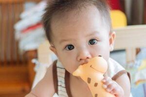 смягчение боли при прорезывании молочных зубов